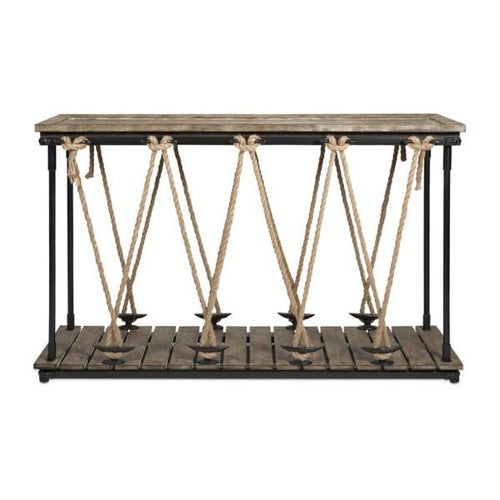 Rustic Rope Console Table - Furniture