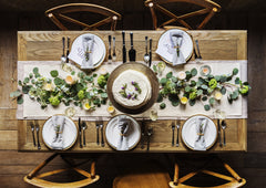 table, runner, crockery, flora, design, entertaining, party