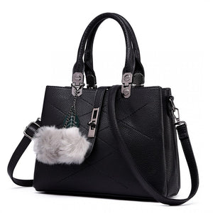 Leather Effect Pom Pom Handbag - The Gift Cafe