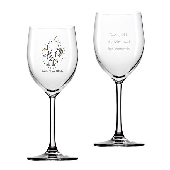 Chilli & Bubbles Retirement Wine Glass - The Gift Cafe
