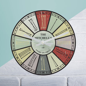 Distressed Round Clock - The Gift Cafe