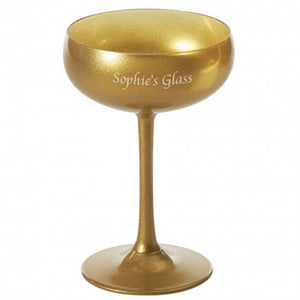 Olympic Gold Champagne Saucer - The Gift Cafe
