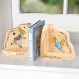 Peter Rabbit Personalised Wooden Book Ends - The Gift Cafe