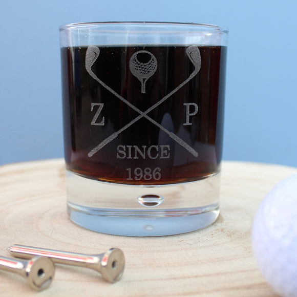 Golf Club Whisky Tumbler - The Gift Cafe