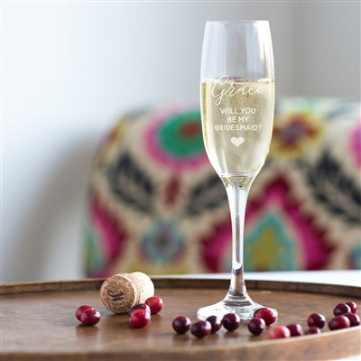 Bridesmaid Champagne Glass - The Gift Cafe