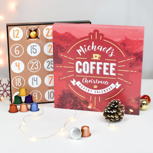 Personalised Coffee Advent Box - The Gift Cafe