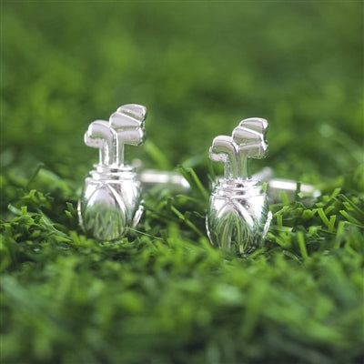 Golf Bag Cufflinks -Personalised, For Him, Sport