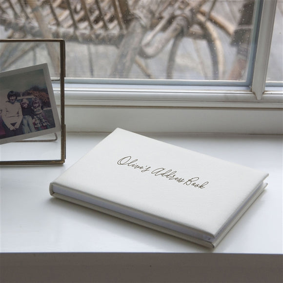Ivory Personalised Address Book - The Gift Cafe