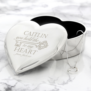 Personalised Trinket Box and Necklace Set - The Gift Cafe