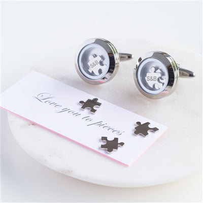 'Love You To Pieces' Cufflinks - The Gift Cafe