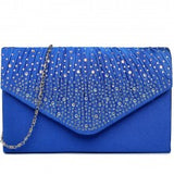 Diamante Studded Envelope Clutch Bag - The Gift Cafe