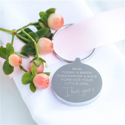 Mum Wedding Gift Keyring - The Gift Cafe