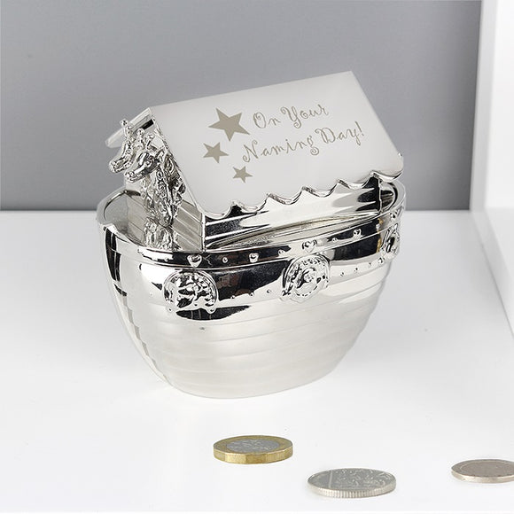 Naming Day Noah's Ark Money Box - The Gift Cafe