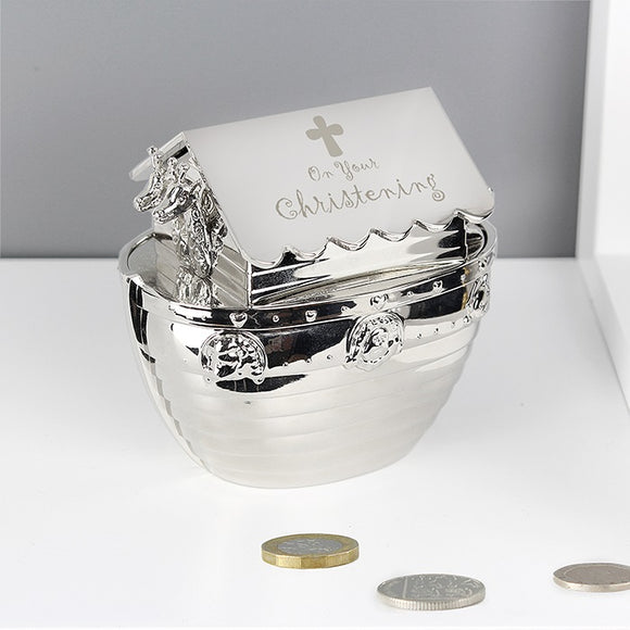 Christening Noah's Ark Money Box - The Gift Cafe