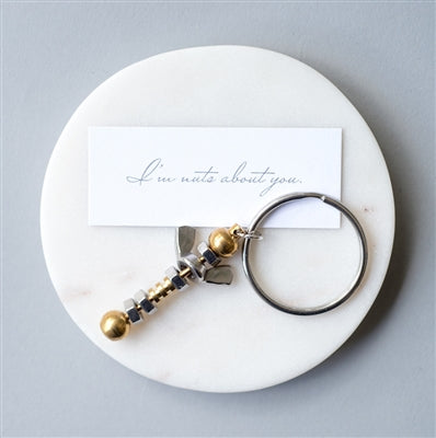 Nuts About You Keyring - The Gift Cafe