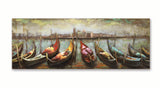 Row of Gondolas - 3D Wall Art - The Gift Cafe