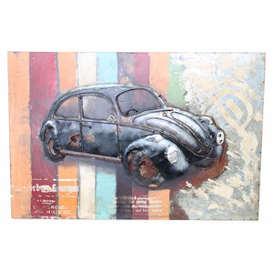 Retro Beetle - 3D Wall Art - The Gift Cafe