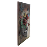 Floral Skull - 3D Wall Art - The Gift Cafe