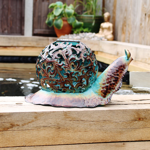 Ornate Solar Snail Light - The Gift Cafe