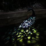 Ornate Solar Peacock Light - The Gift Cafe