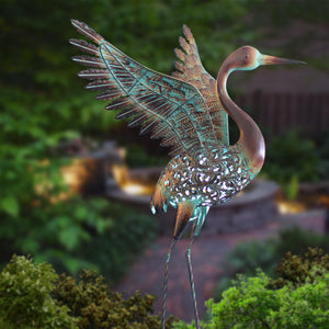 Ornate Solar Winged Crane - The Gift Cafe
