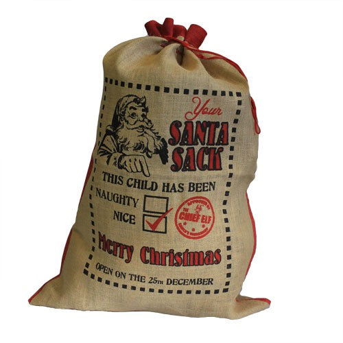 Santa Sack - Naughty or Nice - The Gift Cafe