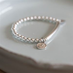 Silver St Christopher Baby Bracelet - The Gift Cafe