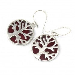 Tree of Life Silver Earrings - The Gift Cafe