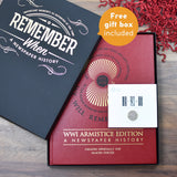 WWI Armistice Edition Newspaper Book - The Gift Cafe