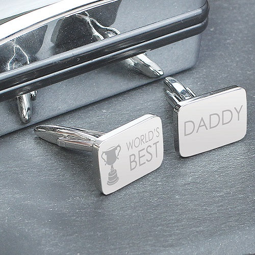 World's Best Daddy Cufflinks