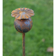 Poppy Head Plant Pin - The Gift Cafe