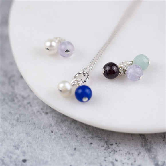 Children's Silver Birthstone Necklace - The Gift Cafe