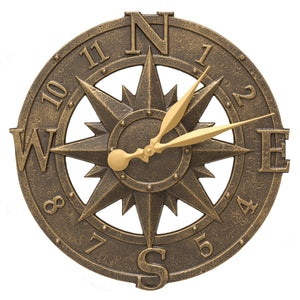 "16"" Compass Rose Clock"
