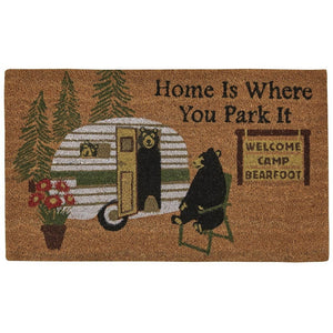 "Coir 30"" x 18"" Doormat - Home is Where You Park It"