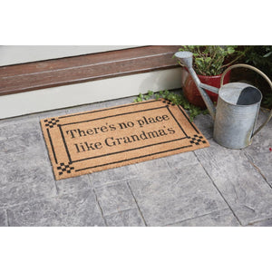 "Coir 30"" x 18"" Doormat - No Place Like Grandma's"
