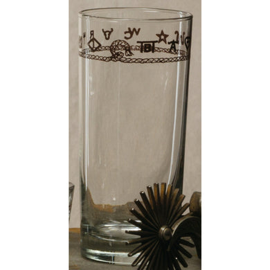 Set of 4 -15oz Tumbler Glasses with Brands