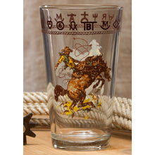 Set of 4 - 20oz Pint Glasses with Bronco Buster or Boots & Saddle