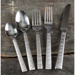 20 PC Stainless Steel Western Brands Flatware Set