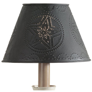 "Barn Star Metal Lamp Shade 6"", 10"" or 12"", Black or Red"