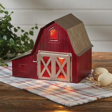 Red Barn  Corded Table Lamp