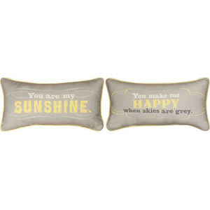 "(1) You Are My Sunshine You Make Me Happy 17"" x 9"" Word Pillow"