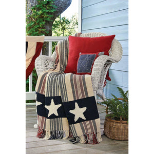 Star Spangled Americana Woven Throw Blanket