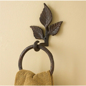 Metal Birchwood Branch Hand Towel Ring Holder