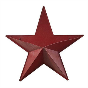 "Metal Barn Star Wall Pocket 14"" Red"