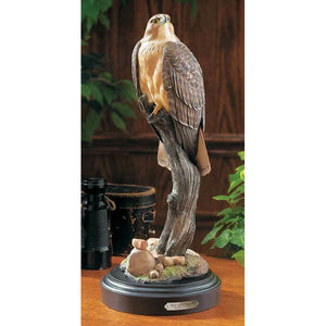 "15.5"" Red Tailed Hawk Sculpture by Phil Galatas"