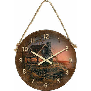 "Terry Redlin Comforts of Home 21"" Round Hanging Clock"