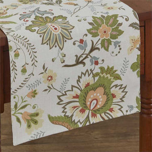 "Laurel Floral Cotton Table Runner, 13"" x 36"""