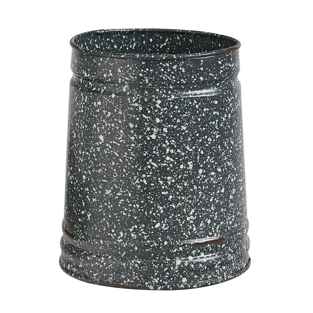 Granite Enamelware Utensil Crock Holder Flower Vase