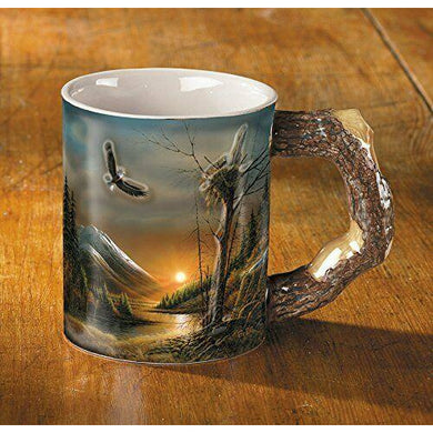Free Flying American Eagle Sculpted Mug Coffee Cup
