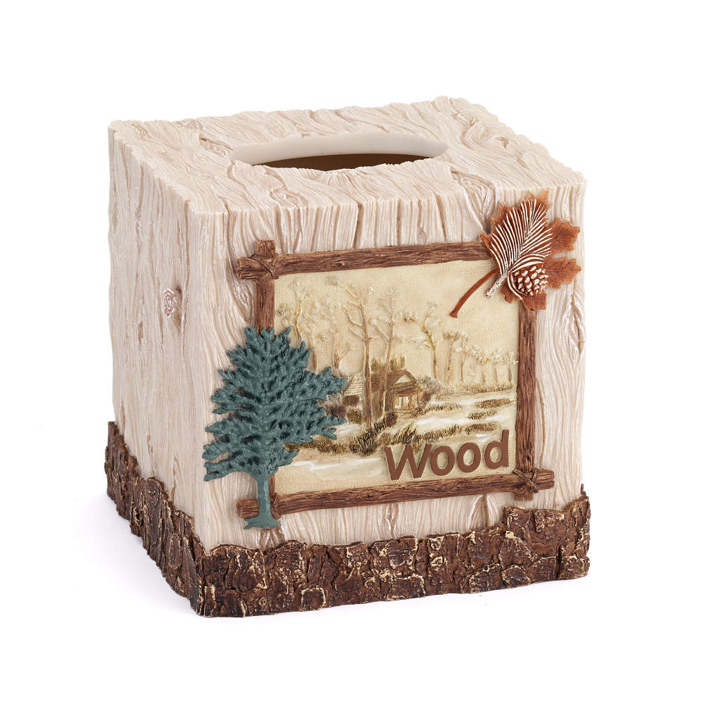 NATURE WALK  TISSUE COVER BOX